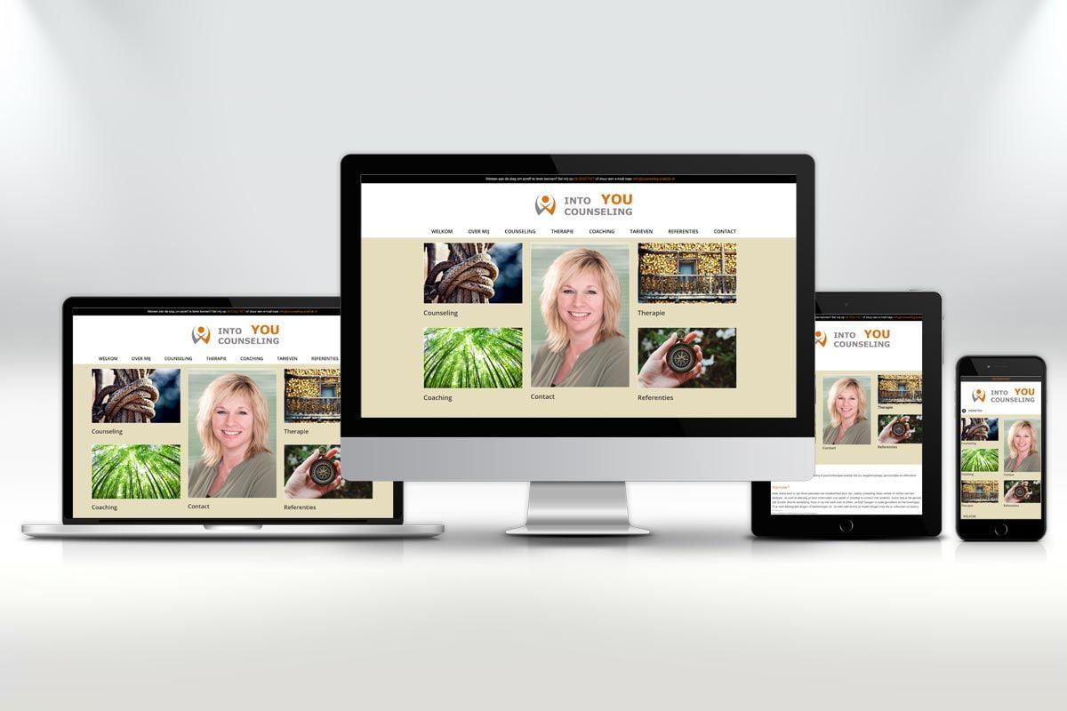 Website ontwerp en zoekmachine optimalisatie website INTO YOU Counseling