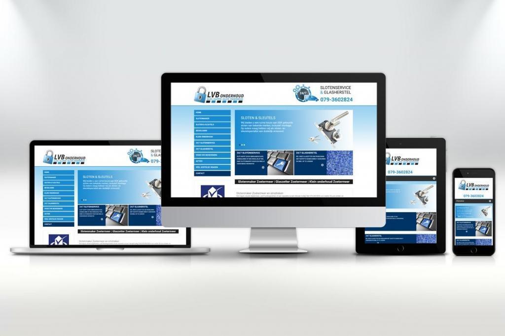 Website ontwerp en zoekmachine optimalisatie van de website voor LVB Onderhoud Zoetermeer