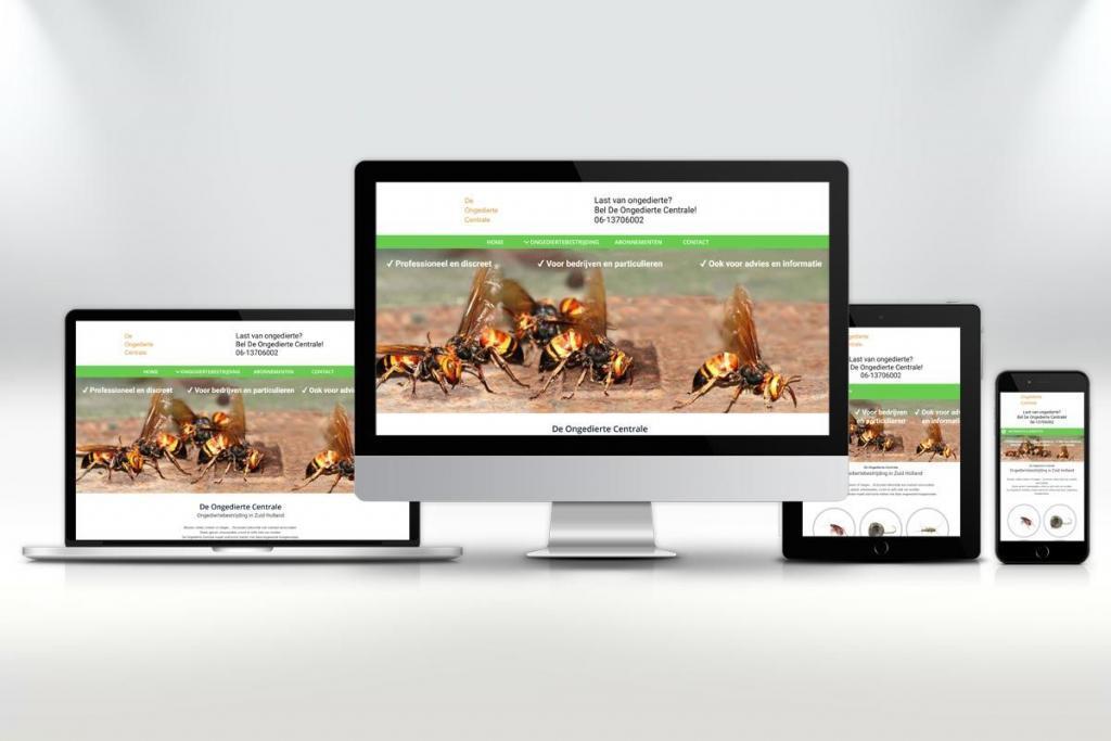 Website ontwerp en zoekmachine optimalisatie van de website voor De Ongedierte Centrale