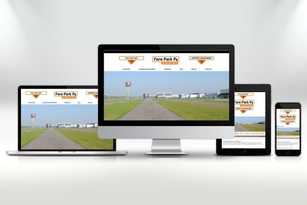 Website ontwerp en zoekmachine optimalisatie van de website voor Forepark P4 Parking