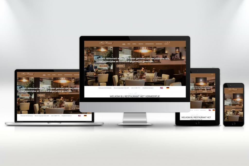 Website ontwerp en zoekmachine optimalisatie van de website voor restaurant Het Vermeertje in Delft