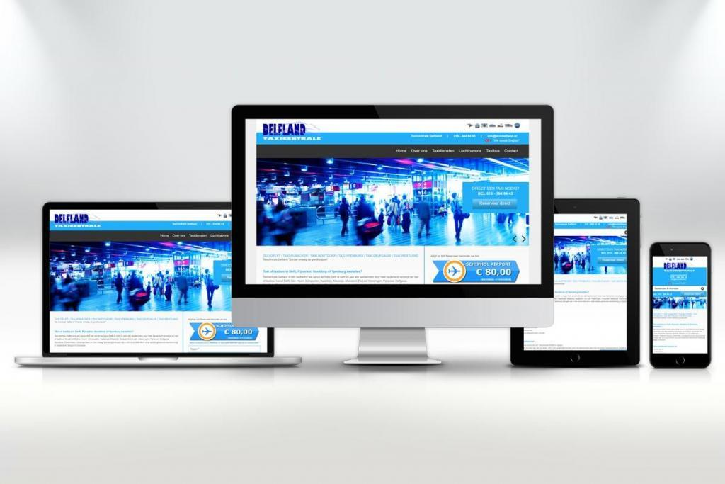 Website ontwerp en zoekmachine optimalisatie website Taxi Delfland Delft